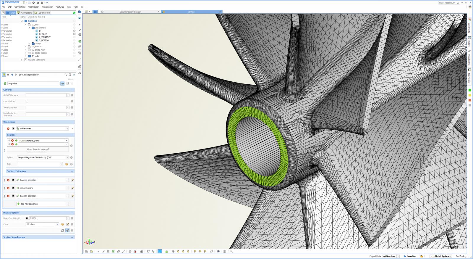 Centrifugal Fan Blades Design : Centrifugal impeller blade design general modeling