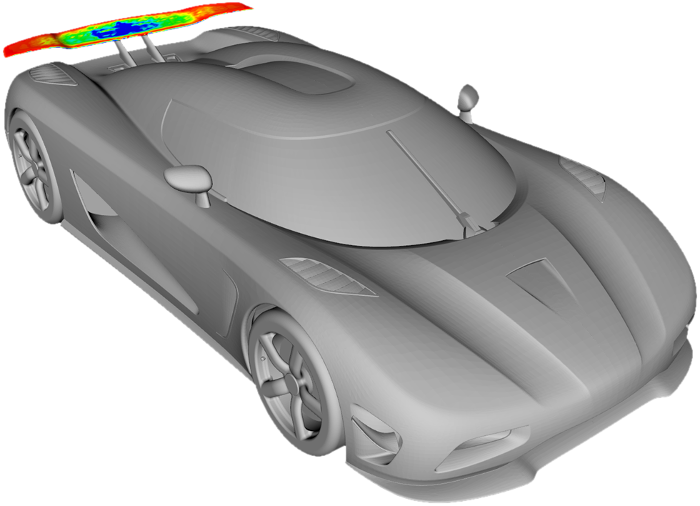 Rear wing optimization using Adjoint CFD