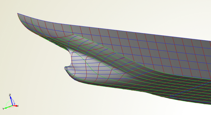 Symmetric aft body part