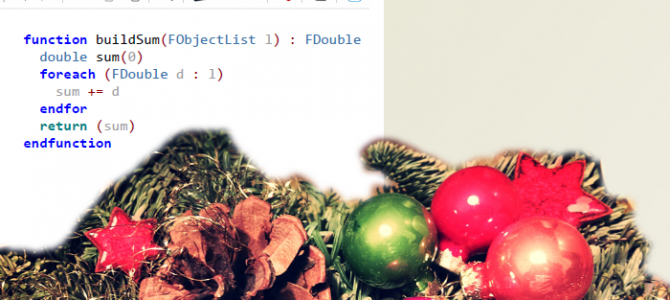 Christmas Gift: Effective Feature Programming