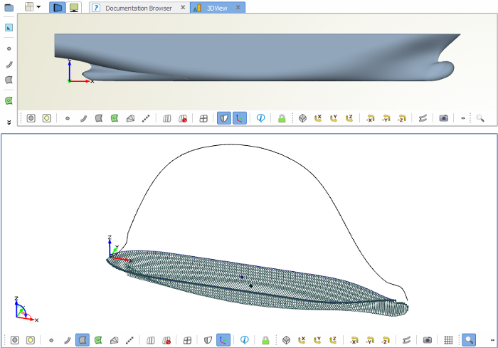 Fast optimization of imported ship geometry
