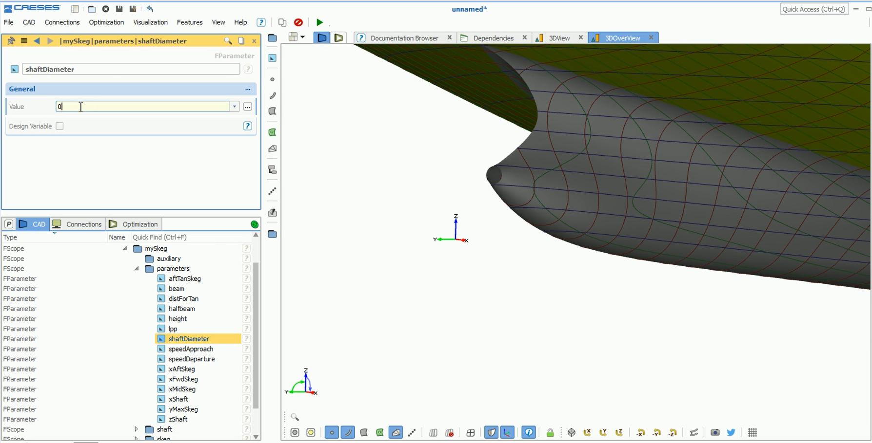 Parametric Skeg Modeling in 2 Minutes