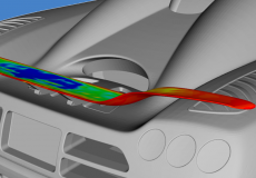 Direct Coupling of Parametric CAD and Adjoint CFD