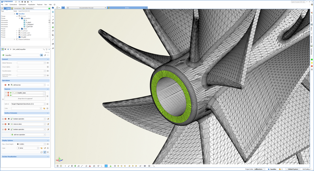 caeses robust geometry for cfd