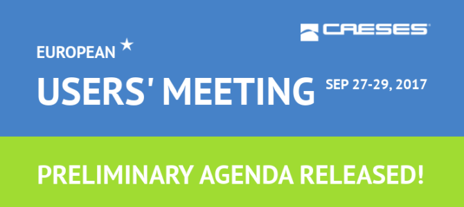 CAESES European Users' Meeting: Agenda