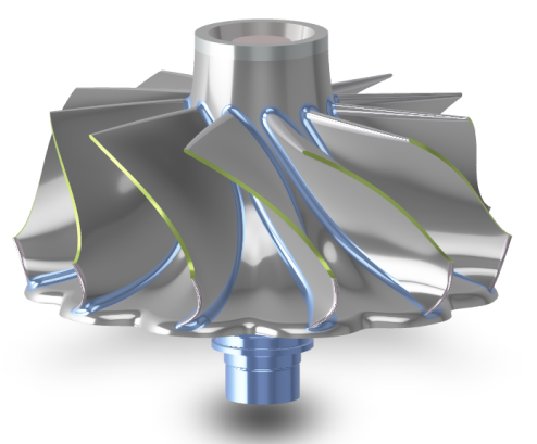 Geometry model of turbine blade including scallops and endwall contouring