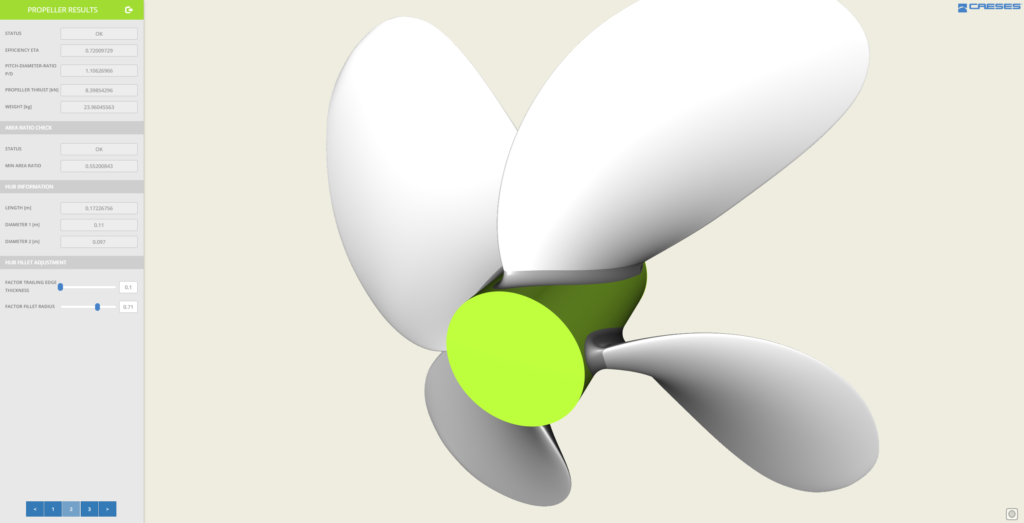 Propeller app for geometry creation and download
