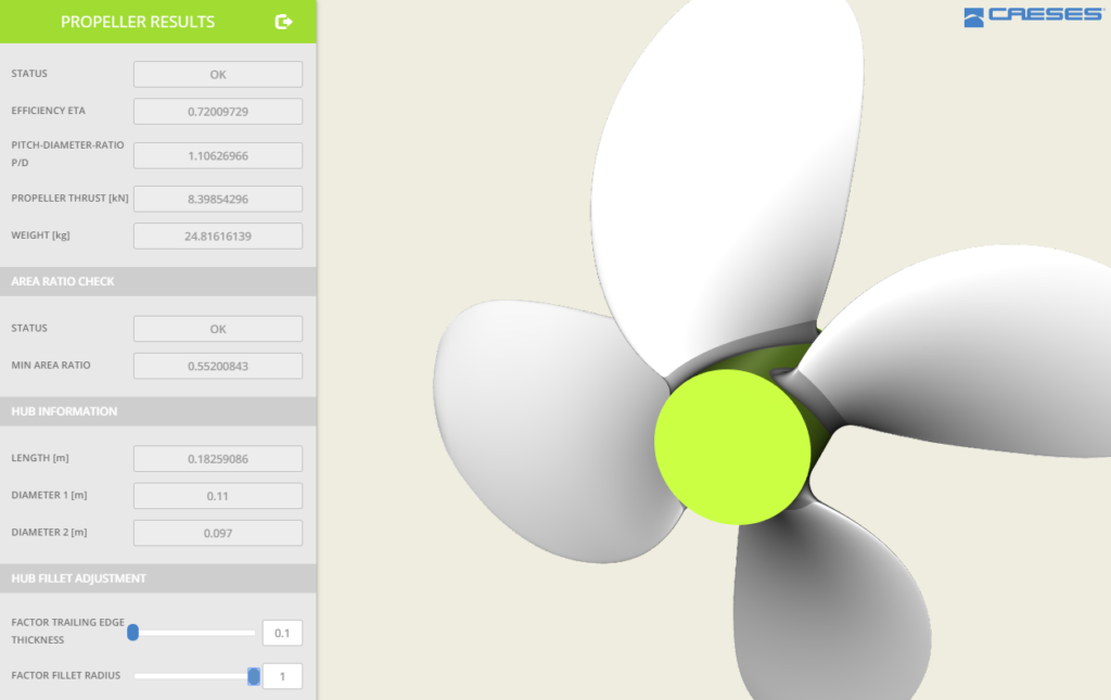 B-Series propeller app for geometry creation and download