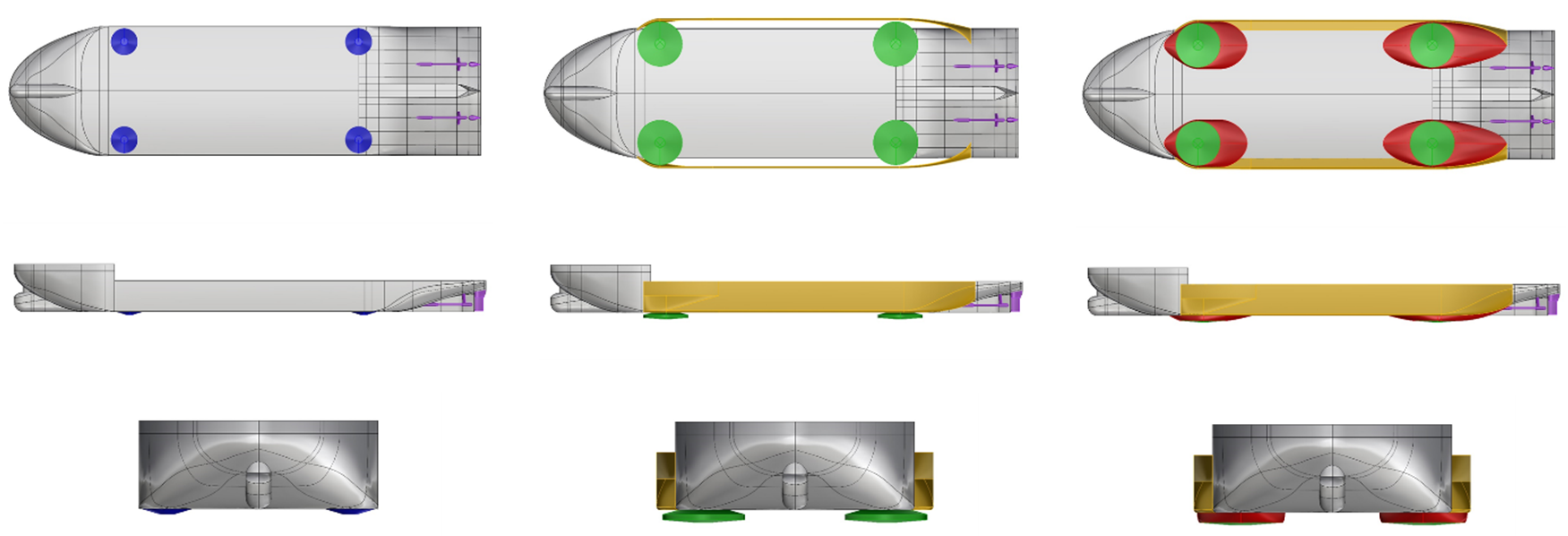 jack-up vessel configurations