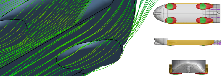 Optimizing the flow characteristics of hull forms