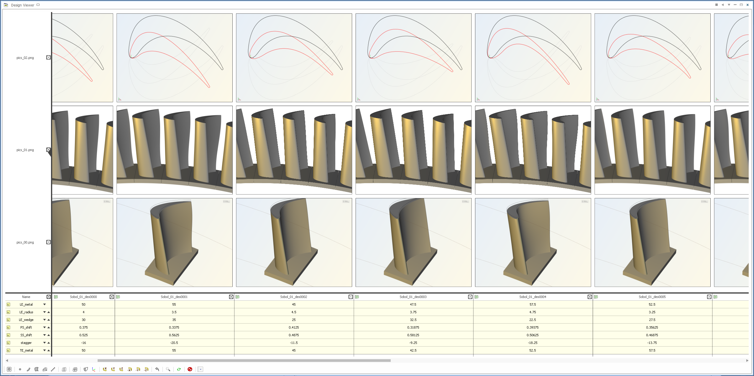 Turbine blade comparison and geometry check