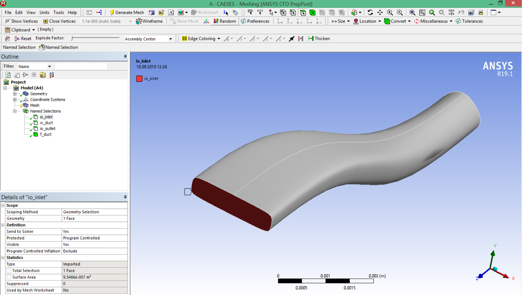 These identifiers will be then automatically transferred to the ANSYS mesher and the DesignModeler