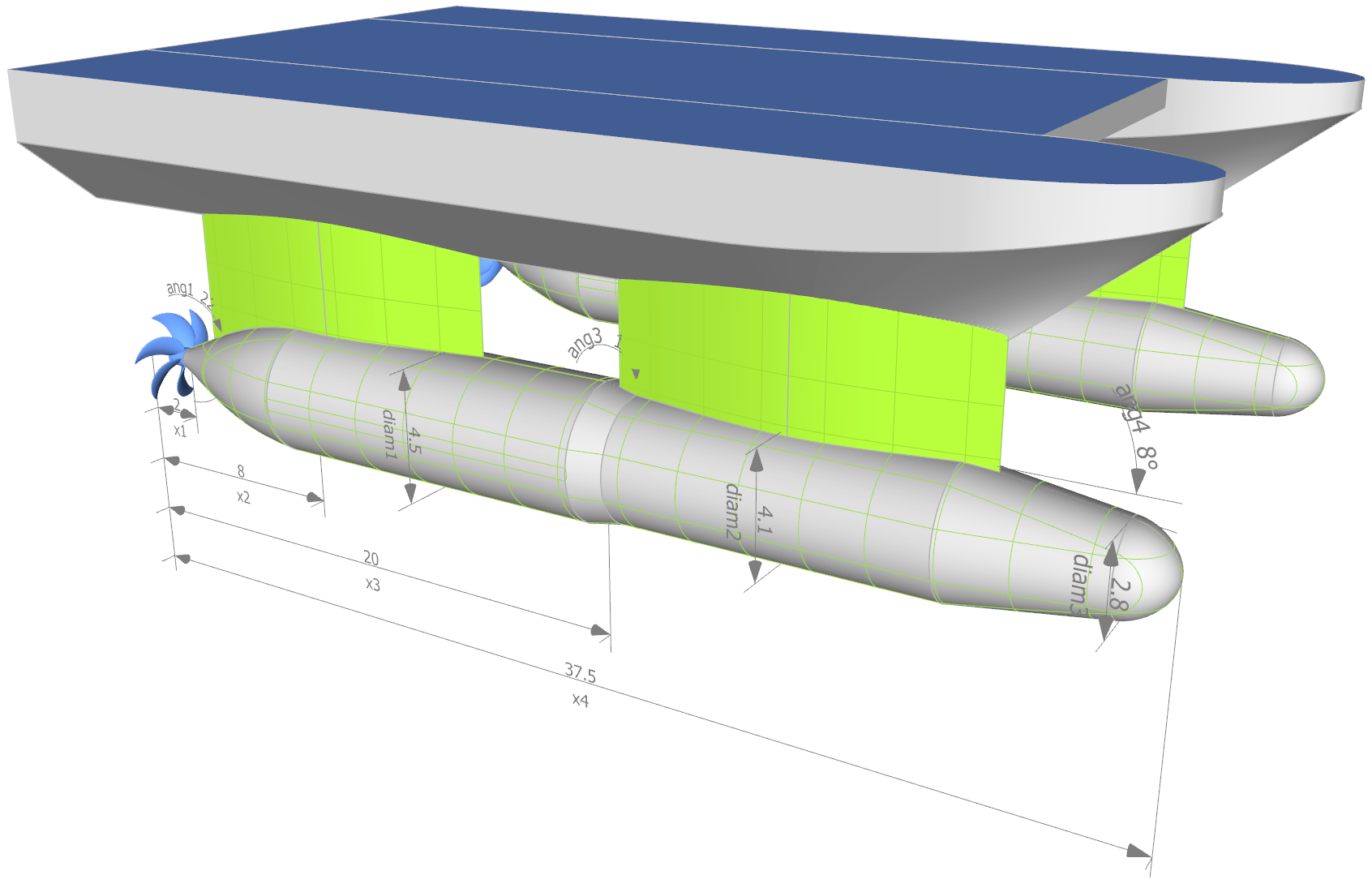 CAESES allows you to design container vessels, yachts, tankers or even swath hull forms