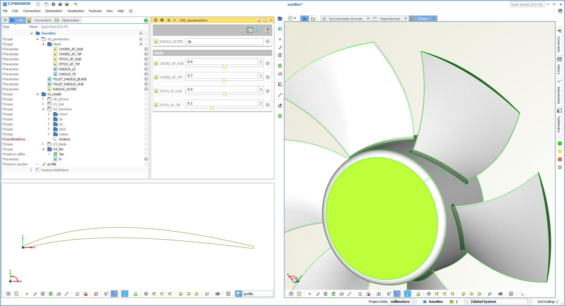 axial fan design software CAD