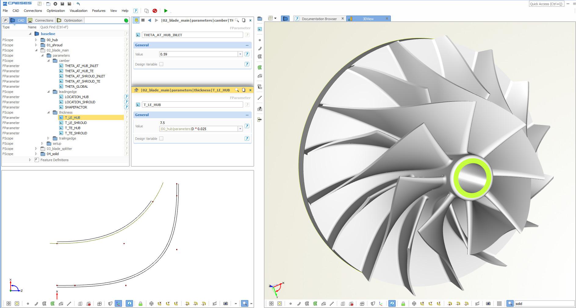 blade design CAD
