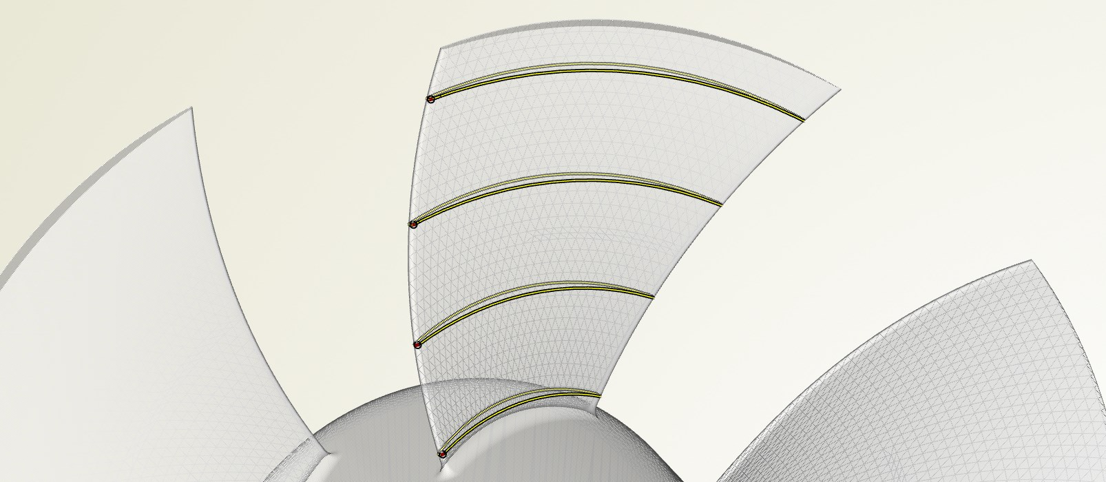 caeses blade sections axial fan