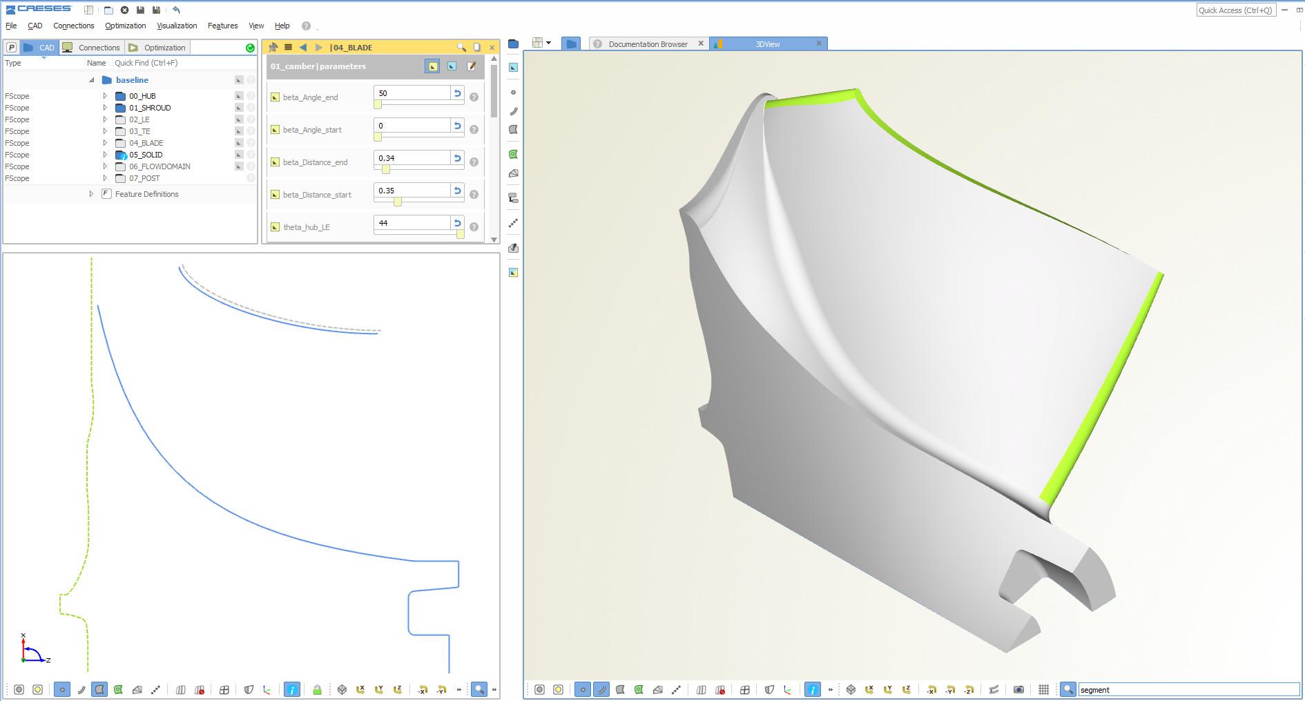radial turbine segment CAD