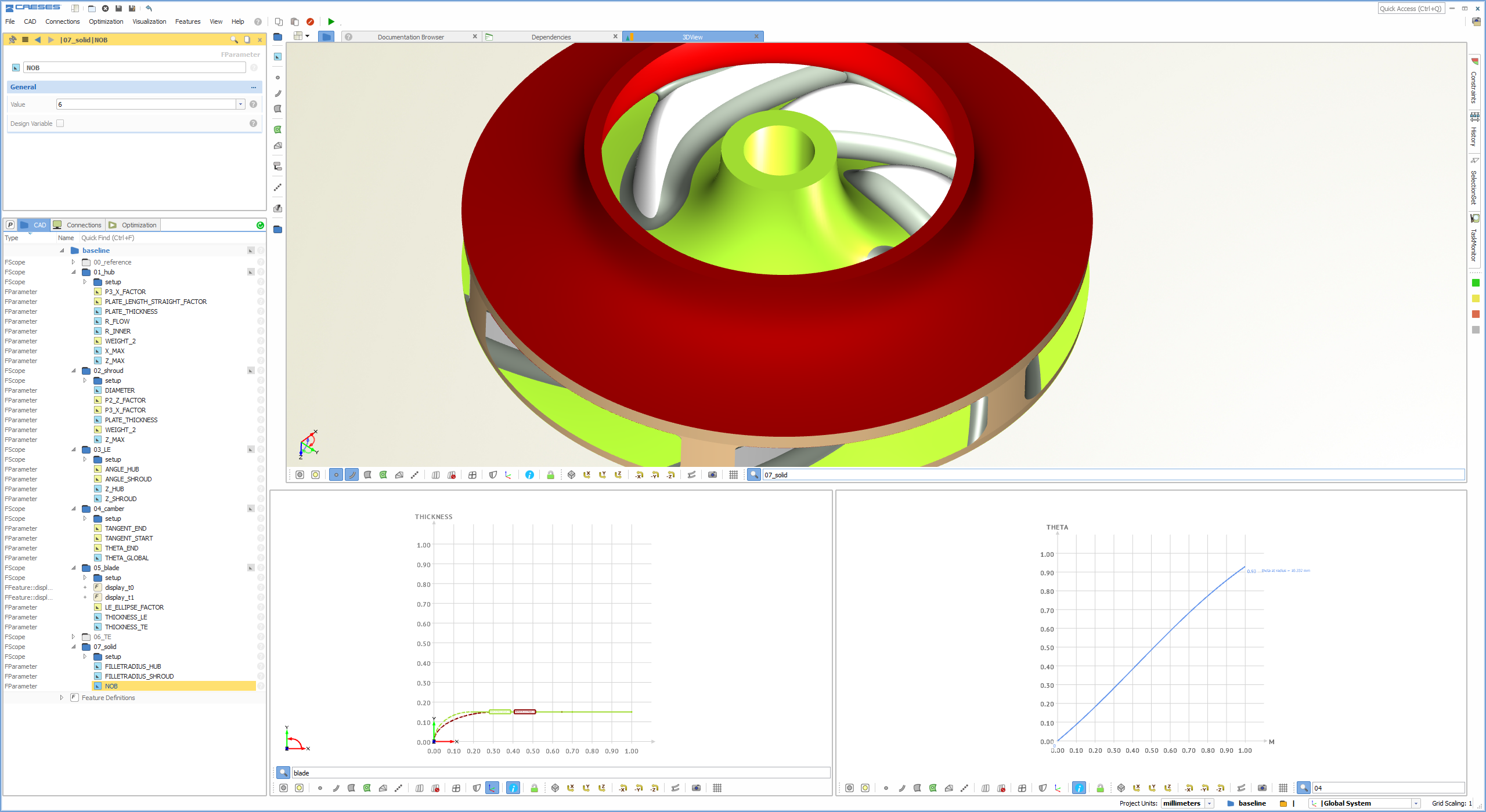 Pump design software for any kinds of pumps (here: water pump)