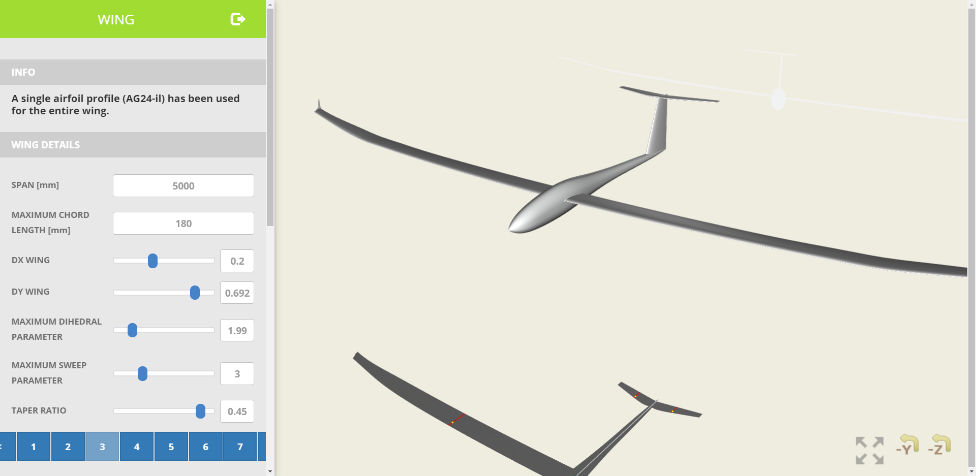 Glider Plane Design Web App