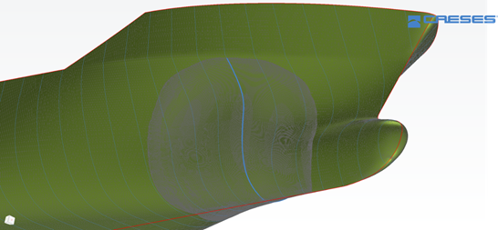 Using FINE™/Marine with CAESES via Intuitive Modeling on the Basis of Radial Basis Functions