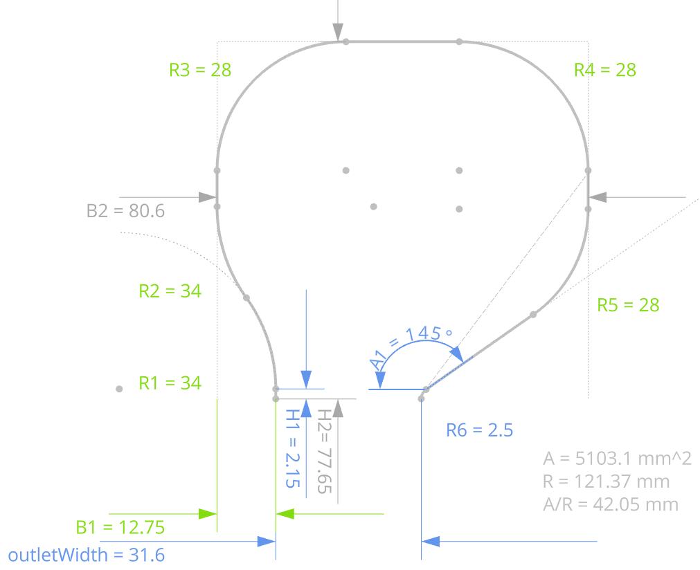 volute design cross-section